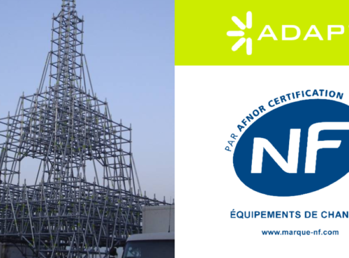 Sistema Multidirecional ADAPT®certificado pela Norma NF